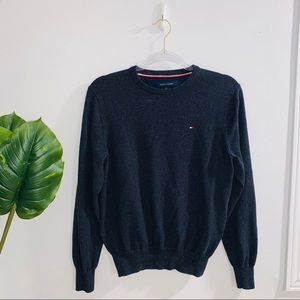 Tommy Hilfiger Charcoal Gray Crewneck Sweater